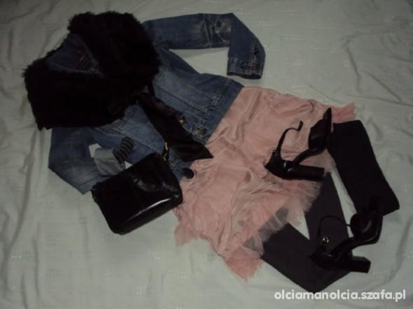Mój styl Jedwab futro jeans