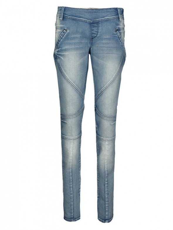 Spodnie SUPER RURKI JEANS TROLL PRZESZYCIA ZIP H&M