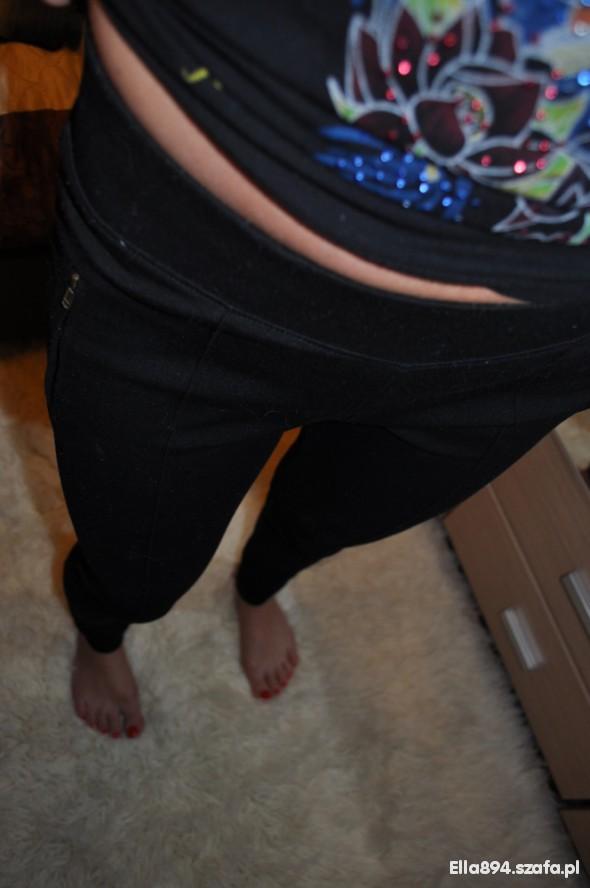 Spodnie SPODNIE legginsy ala kieszonki ZIPY