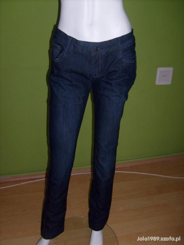 Spodnie NOWE GRANATOWE RURKI 40 42