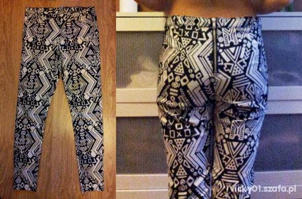 Spodnie Spodnie z zipem H&M