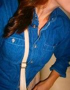 jeansowa klasyczna koszula
