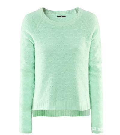 Pastelowy Miętowy Sweter