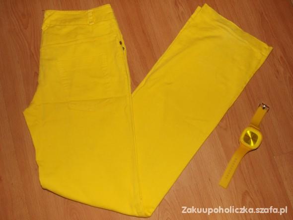 Spodnie Rozszerzane super żółte spodnie