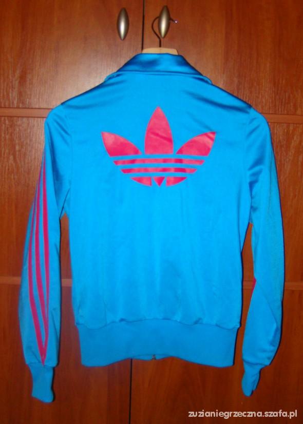 bluza adidas niebiesko różowa