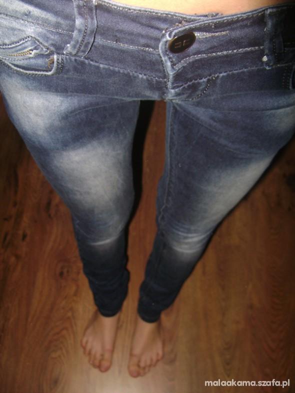 Spodnie Ciemne z jasnym