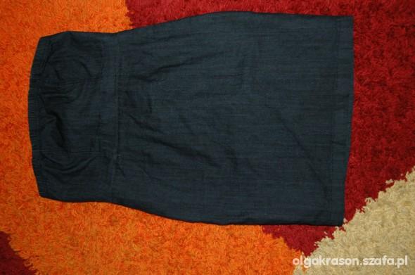 Suknie i sukienki Jeansowa sukienka rozm 40 bez ramiączek