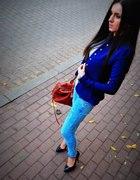 Dark blue jacket...