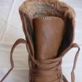 camel botki z kożuszkiem