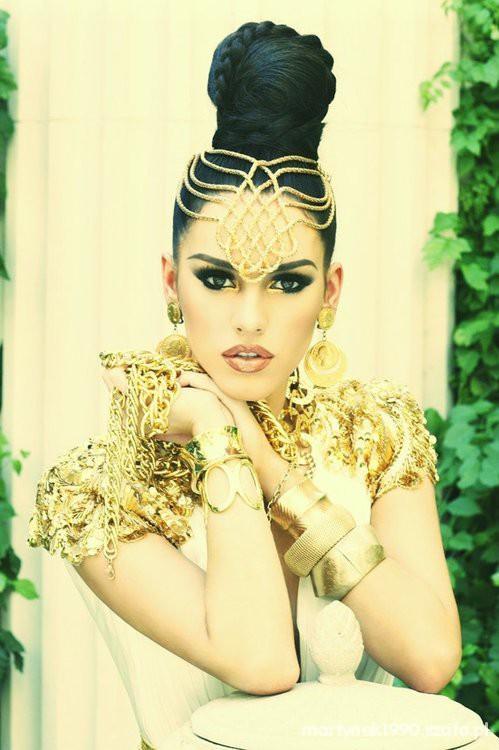 Egyptian Princess Makeup Egipska Ksiezniczka W Fryzury Szafapl