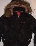 czarna ciepła kurtka z kapturem