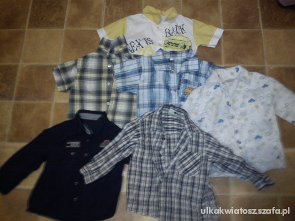 Koszulki, podkoszulki komplet koszul 92 98