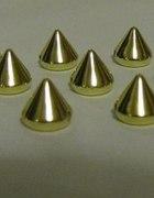 złote Ćwieki kolce spike przyszywane naklejana
