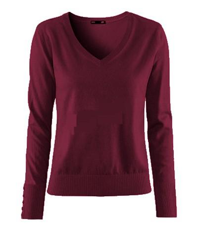 Burgundowy sweter dzianina H&M BURGUND WINO BORDO...
