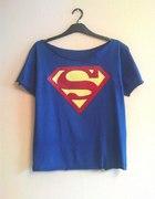 niebieski oversize z wielkim logo SUPERMAN m