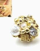 NOWY duży złoty pierścionek PREZENT
