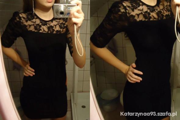 Sukienka czarna koronkowa plus gratis