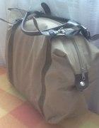 Duża torebka kremowo brązowa