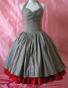 Sukienka lata 60 szyta na kole...