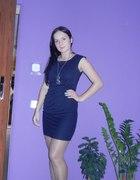 Granatowa sukienka na codzień