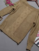 sweter warkocz