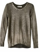 Metaliczny sweter H&M