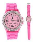 jelly watch tally weijl diamonds pink...