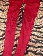 Rurki mega obcisłe sexy czerwone borodowe