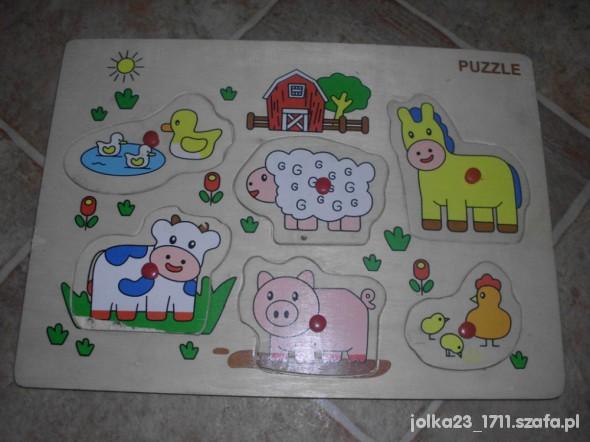 Zabawki drewniana układanka obrazkowa