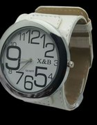 Zegarek skórzany X&B Tanio duża tarcza NOWY