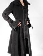 Asymetryczny płaszcz goth