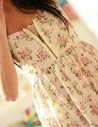 Sukienka Topshop Zip kwiatuszki koronka S M