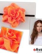 Pomarańczowy mega kwiat maxi boho etno...