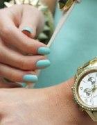 złoty zegarek geneva cyrkonie boyfriend nowy