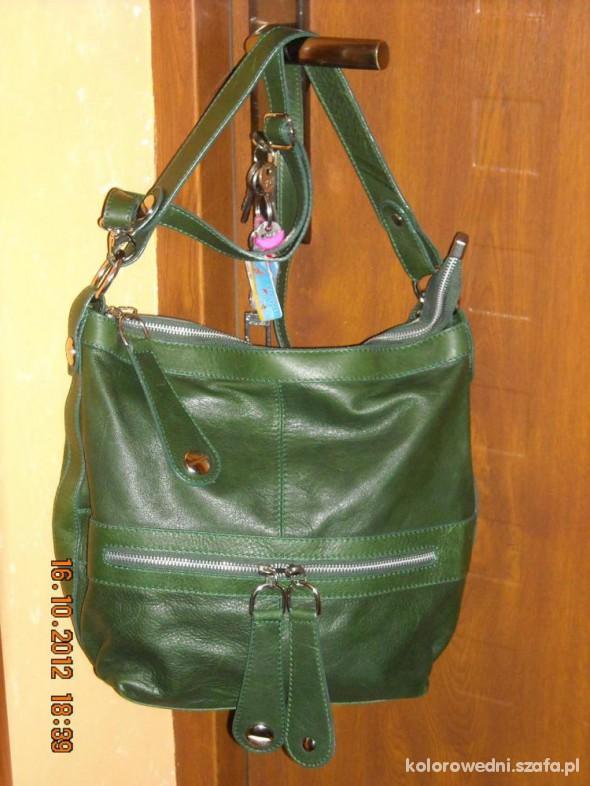 76bb241a43e90 włoska zielona torebka skórzana w Torebki na co dzień - Szafa.pl