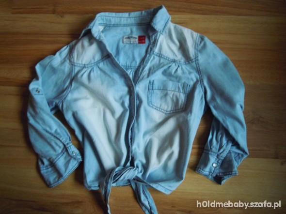 koszula jeansowa wiązana M