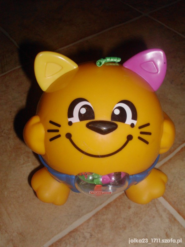 Zabawki wibrujacy i śmiejacy sie kotek bawismieszek f pric