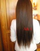 Brązowe przedłużane szer 25 cm tasmy włosy clip in