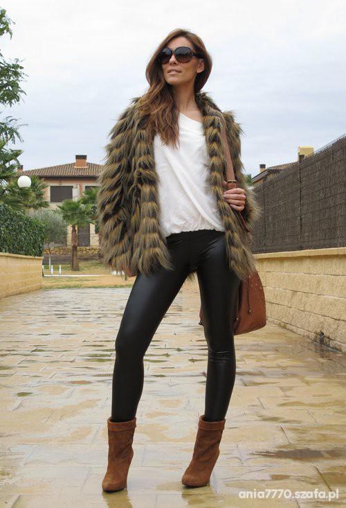 Eleganckie kożuszek legginsy