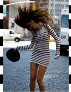 Sukienka tunik w paski czarno biała 38 40 42 44...