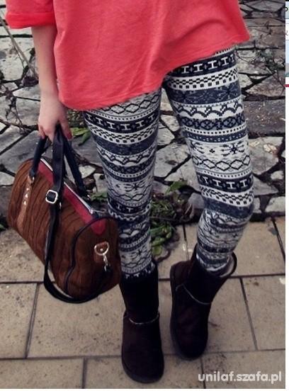 nowe legginsy norweskie wzory 15zł