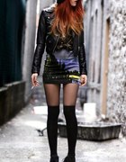 sukienka mini rockowa