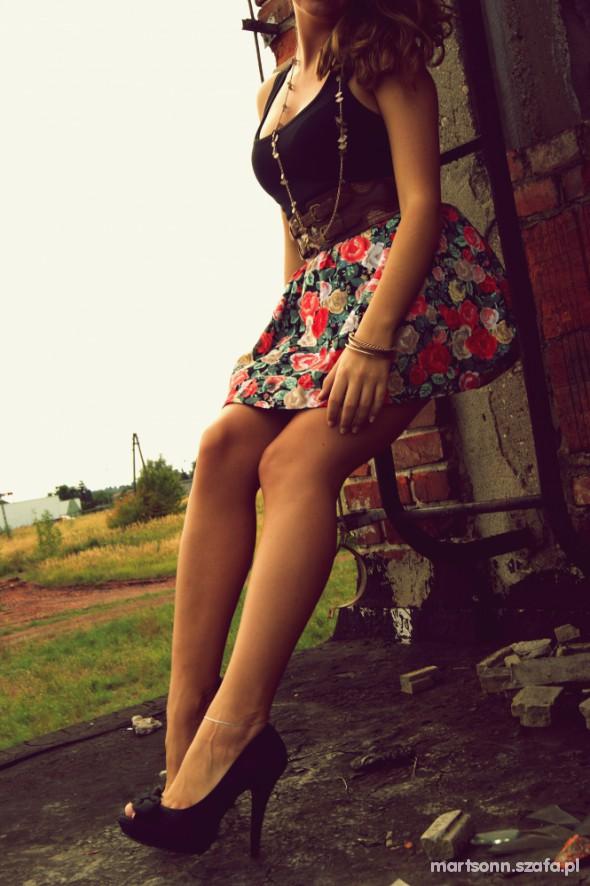 Mój styl floral spódniczka hm