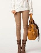 ITALY spodnie TREGGINSY Xs S M L XL ceglaste