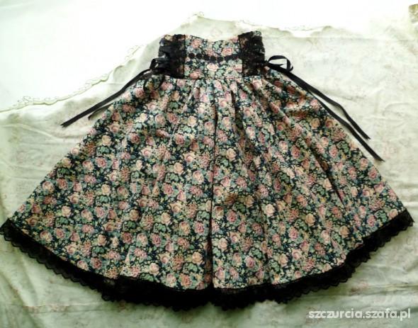 Handmade Lolita High Waisted Floral Skirt