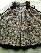 Handmade Lolita High Waisted Floral Skirt...