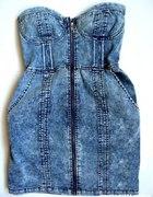sukienka marmurkowa h&m gorsetowa