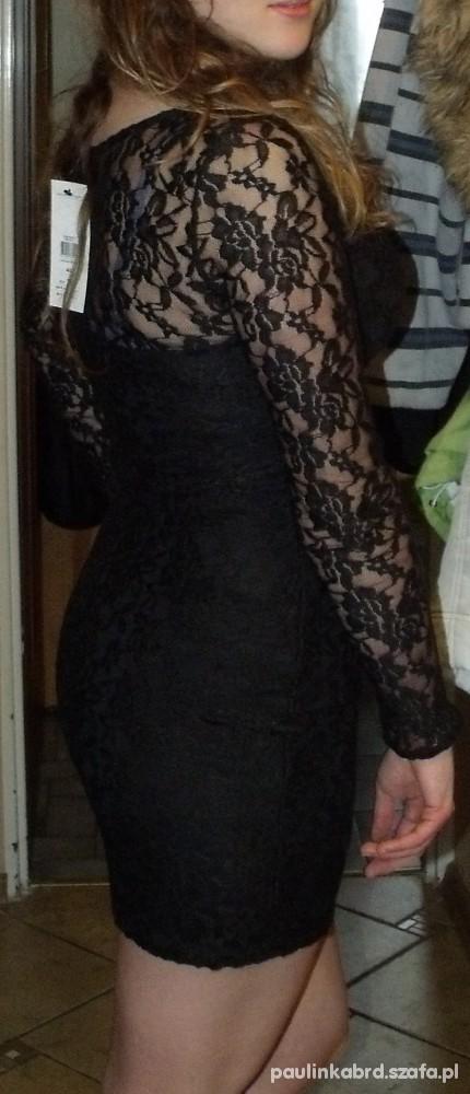 Imprezowe koronkowa sukienka sylwester