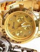 złoty zegarek geneva polecam na prezent