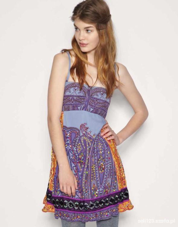 sukienka free people Multi Print Bandeau Dress...